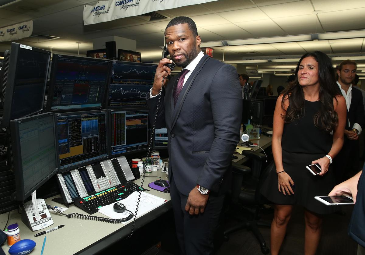Curtis '50 Cent' Jackson attends the annual Charity Day hosted by Cantor Fitzgerald and BGC at Cantor Fitzgerald on September 11, 2015 in New York City