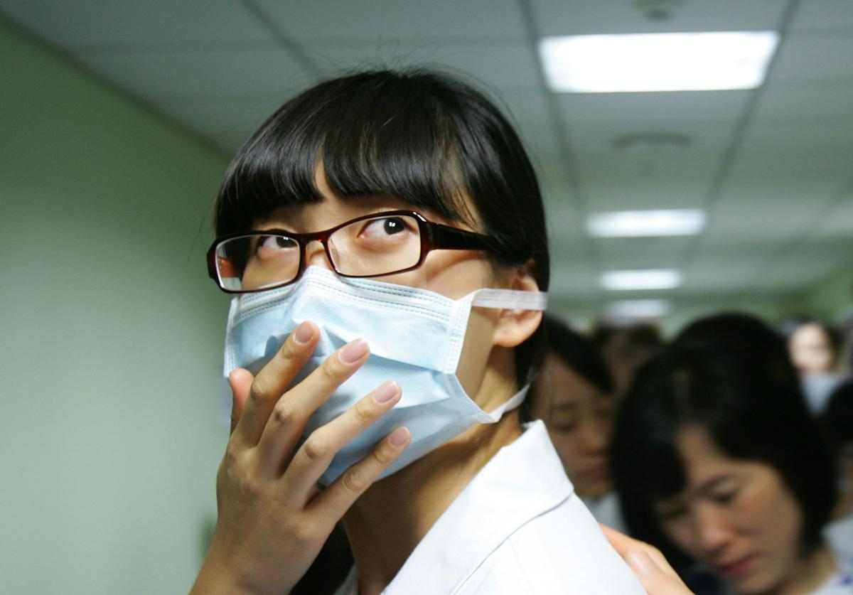 Medical workers of the Korea University Hospital wait for vaccination of H1N1 swine flu vaccine at Korea University Hospital on October 27, 2009 in Seoul, South Korea. The Korea Food and Drug Administration approved domestically developed vaccines last week, the government plan to vaccinate 35 percent of South Korean population until next February