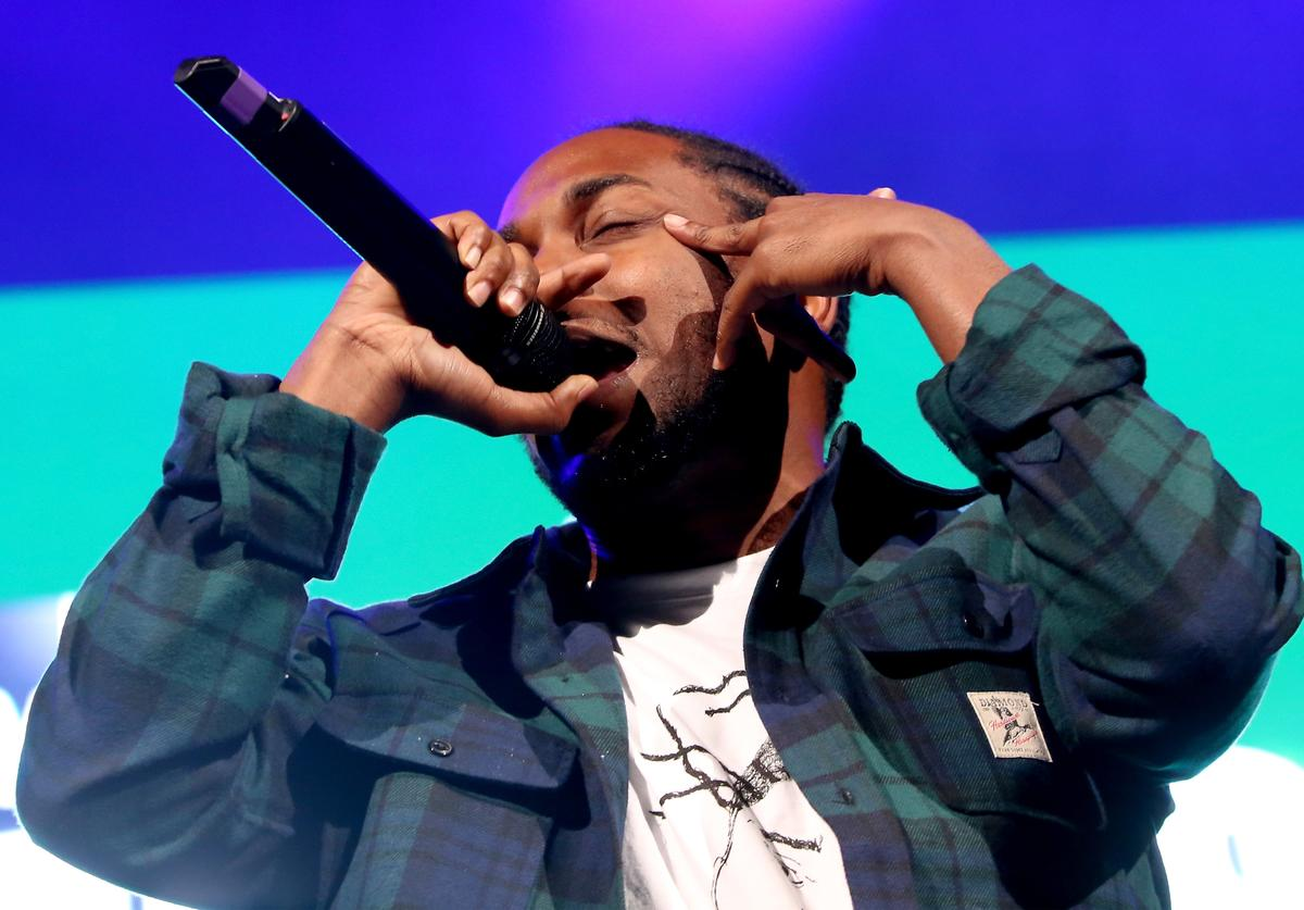 Rapper Kendrick Lamar performs onstage during 105.1's Powerhouse 2015 at the Barclays Center on October 22, 2015 in Brooklyn, NY