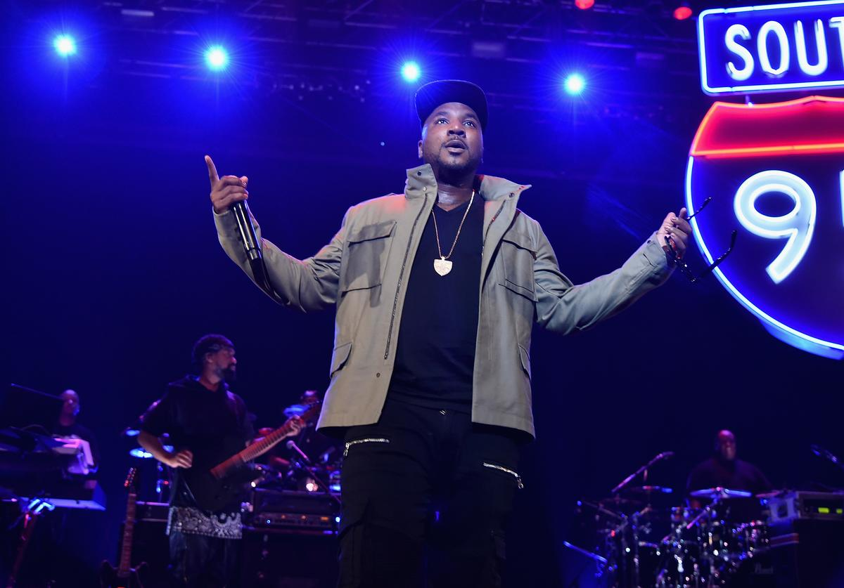 Young Jeezy performs during TIDAL X: Jay-Z B-sides in NYC on May 16, 2015 in New York City