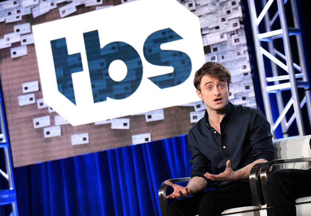 Actor Daniel Radcliffe of 'Miracle Workers' speaks onstage during the TBS portion of the TCA Turner Winter Press Tour 2018 Presentation at The Langham Huntington, Pasadena on January 11, 2018 in Pasadena, California.