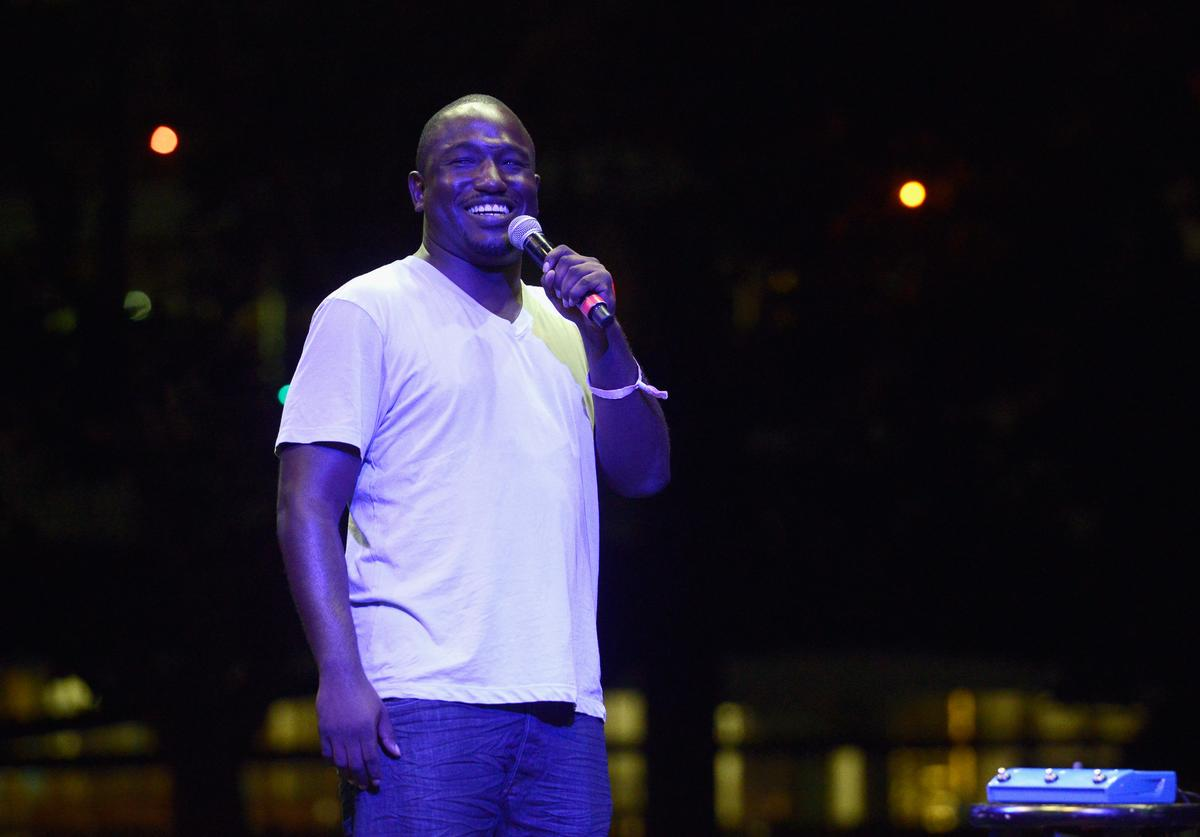 Hannibal Buress performs onstage during day 1 of FYF Fest 2017 on July 21, 2017 at Exposition Park in Los Angeles, California.