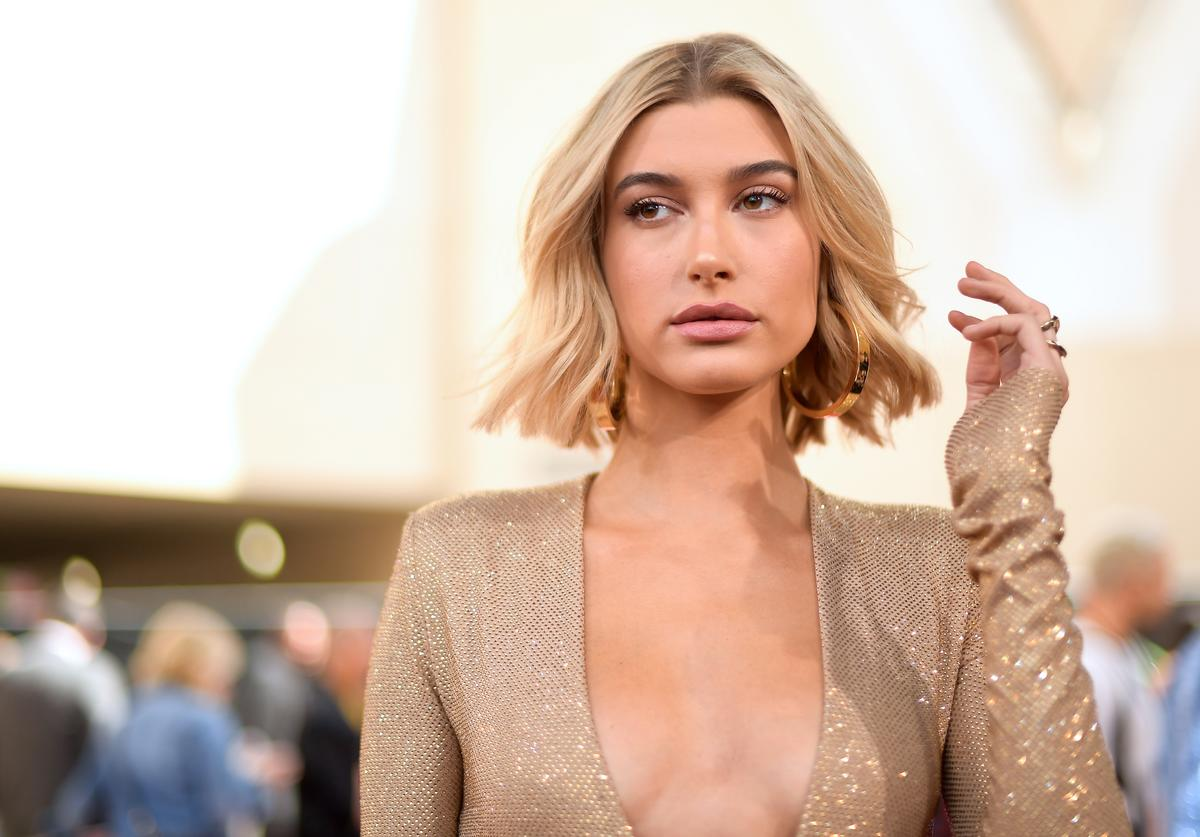 Hailey Baldwin attends the 2018 Billboard Music Awards at MGM Grand Garden Arena on May 20, 2018 in Las Vegas, Nevada