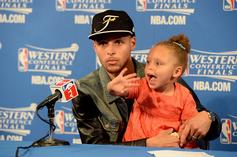 Steph Curry Says A Fan Once Sent His 5-Year Old Son To Ask Riley Curry On A Date