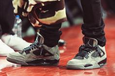 Travis Scott Shows Off New Air Jordan 4 Colorway In Houston
