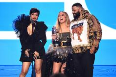 Jennifer Lopez Flaunts Her Thong Underwear & Nearly Breaks DJ Khaled's Neck
