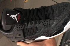 "Black ""Laser"" Air Jordan 4 Rumored For 2019: First Look"