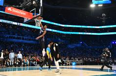 Dennis Smith Jr. Rocks J. Cole's High School Jersey During NBA All-Star Dunk Contest
