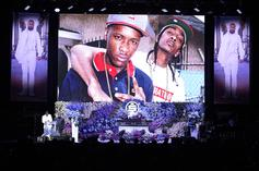 """YG Passes The Joint To Nipsey Hussle """"One Last Time"""" At His Gravesite Memorial"""