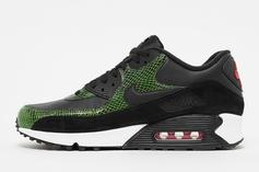 """Nike Air Max 90 """"Green Python"""" Release Date, Detailed Images"""