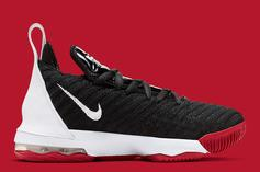"""Nike LeBron 16 Dressed In Classic """"Bred"""" Colorway: Release Details"""