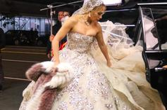 J-Lo Was Spotted In An Extravagant Wedding Dress In Manhattan