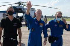 NASA Astronauts Aboard SpaceX's Mission Land In Gulf Of Mexico