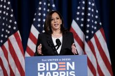 Kamala Harris Starts Trending After She Hops Off The PJ In A Pair Of Timbs