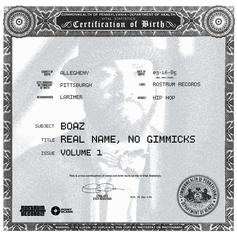 Boaz - Real Name, No Gimmicks Vol. 1