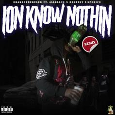 """Drakeo The Ruler Gets Support From ALLBLACK, G Perico & Ohgeesy On The """"Ion Know Nothin Remix"""""""