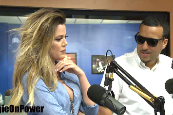 French Montana & Khloe Kardashian Visit Angie Martinez At Power 105.1