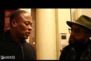"""Dr. Dre """"FADER TV: Interview with Dr. Dre """" Video"""
