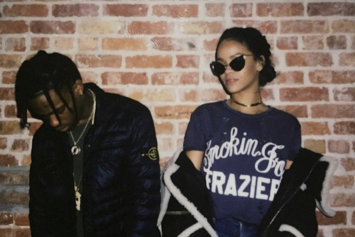 Travi$ Scott & Rihanna Were Getting Pretty Close At The Club Last Night
