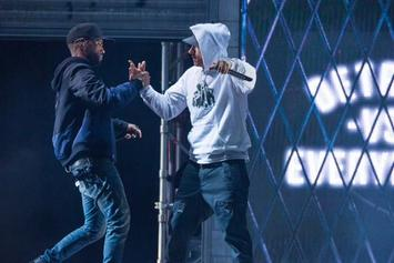 "Big Sean Brings Out Eminem To Perform ""Detroit Vs. Everybody"" At Homecoming Concert In Detroit"