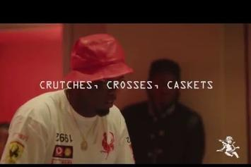 "Pusha T & Diddy In The ""Crutches, Crosses, Caskets"" Studio Session"