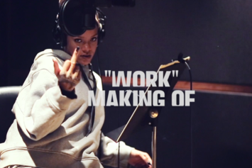 """Watch A Behind-The-Scenes Clip Of Rihanna Recording """"Work"""""""