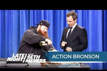 Action Bronson Cooks Octopus On Late Night With Seth Meyers
