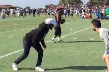 Watch Kendrick Lamar & Schoolboy Q Show Off Their Football Skills