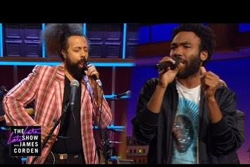 Donald Glover & Reggie Watts Improvise A Song On 'The Late Late Show'