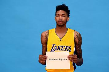 "Lakers' Brandon Ingram Sings ""Diamonds"" By Rihanna At Rookie Talent Show"
