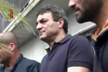 Fugitive Italian Mob Boss Found Hiding Inside Secret Room In His House
