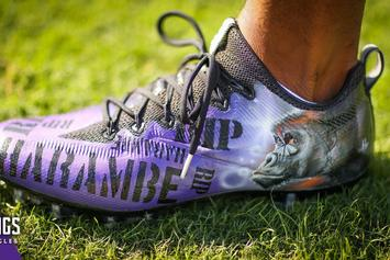 Vikings' Jerrick McKinnon Laces Up Custom Harambe Cleats