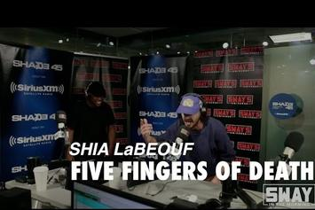 """Watch Shia LaBeouf Slaughter His """"5 Fingers of Death"""" Freestyle On Sway"""