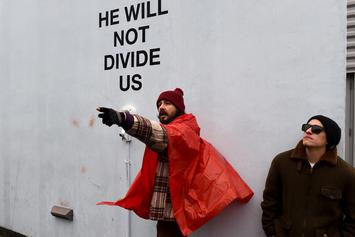 """Shia LaBeouf's """"He Will Not Divide Us"""" Protest Shut Down Due To Threats Of Violence"""