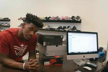 """Jimmy Butler Unveils """"Pantone"""" Air Jordan 12s At Saint Alfred's In Chicago"""