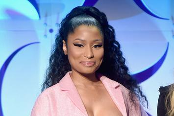 Nicki Minaj's Nipples Pop Out Of Her Bra In Paris