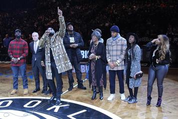 "Diddy & Brooklyn Nets Salute Notorious B.I.G. At ""Biggie Night"""