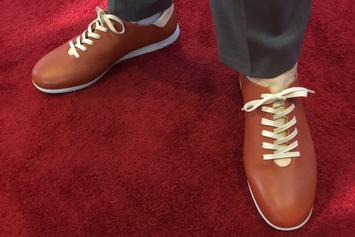 Markelle Fultz Wearing Shoes Made Out Of Basketballs For NBA Draft