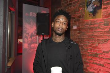 21 Savage Cops Two-Sided New Chain Of Himself & Jason Mask