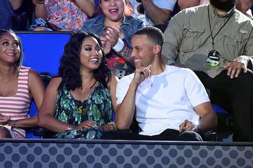 Ayesha Curry Throws Flawless Alley-Oop To Steph At Under Armour Event