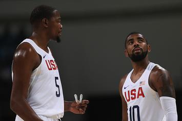 "Kevin Durant Says Kyrie Irving Is ""Courageous"" For Requesting Trade"