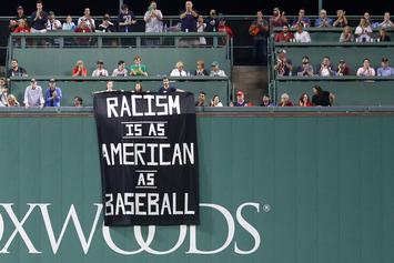 """Fenway Park Security Remove Controversial """"Racism"""" Banner, Fans Behind It"""