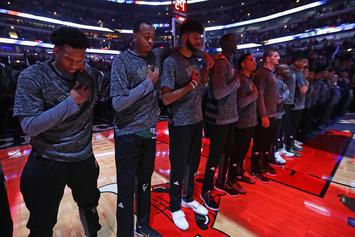 NBA Reminds Players That They Must Stand During National Anthem