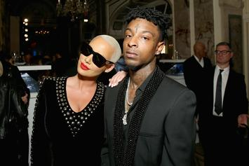 21 Savage Sings Happy Birthday To Amber Rose at Rolling Loud Festival
