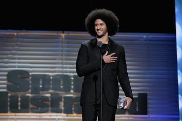 "Beyonce Presents Colin Kaepernick With ""Muhammad Ali Legacy"" Award"