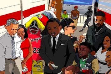 Drawing Of Malcolm X, Tupac, Oprah, Rihanna & More Playing Dice Have People Confused