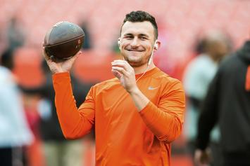 Johnny Manziel Showed Up To The AFC Championship In Full Patriots Gear