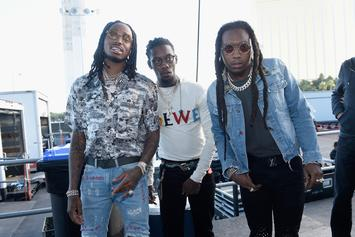 """Migos Bust Out """"The Dab"""" For Hilarious NASCAR Interview"""