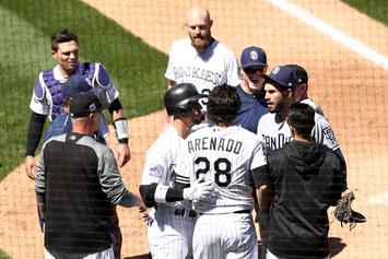 Rockies, Padres Brawl After Nolan Arenado Charges The Mound