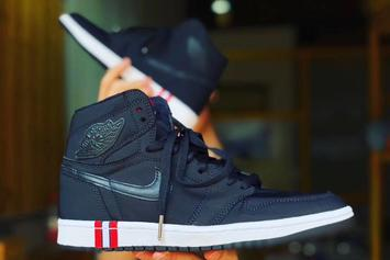 """Paris Saint-Germain"" Air Jordan 1 Surfaces: First Look"